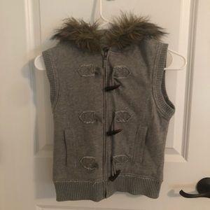 Girls hooded vest